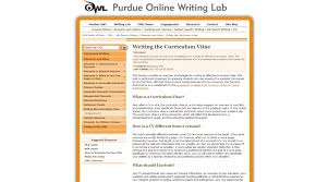 Owl Purdue Resume Cv Resume And Statement Of Purpose The University Of Arizona U0027s
