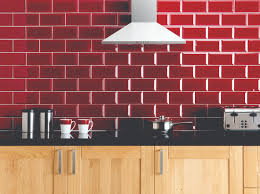 the bevelled brick style of these glass ebro tiles is contemporary