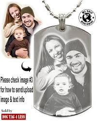 custom engraved necklace pendants personalized photo text dogtags custom your picture