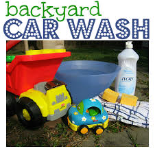 Backyard Activities For Kids Backyard Car Wash For Kids