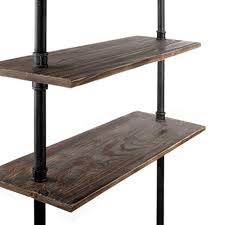pipe desk with shelves oz crazy mall diy industrial rustic pipe desk