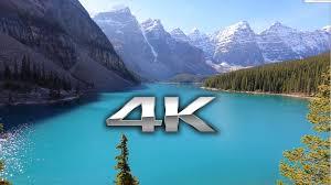 endless looping 4k scene moraine lake banff alberta nature