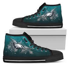 philadelphia eagles home decor angel wings philadelphia eagles high top shoes u2013 best funny store
