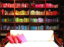 bookshelf organization ideas color coordination book shelves colors color bookshelf organize