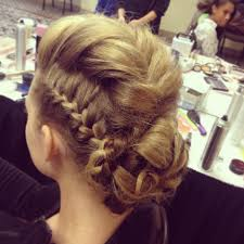 romantic crown braid fashion show google search chignon
