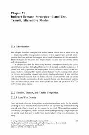 indirect demand strategies u2014land use transit alternative modes