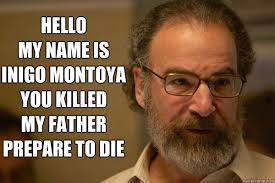 My Name Is Inigo Montoya Meme - hello my name is inigo montoya you killed my father prepare to die
