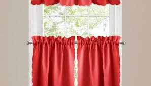 Checkered Curtains by Red Sheer Curtains 1 Panel Nancy Solid Red Semi Sheer Window Faux