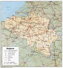 Blank Physical Map Of Europe by Belgium Physical Map 1985 New Zone