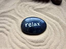 relax word rock for zen garden worry stone painted rock