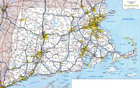 massachusetts road map large detailed roads and highways map of connecticut