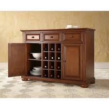 halifax brown wine rack buffet table free shipping today