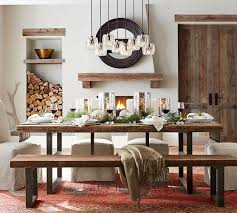 reclaimed wood wall table griffin reclaimed wood dining table reclaimed pine pottery barn