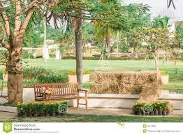 Metal Garden Chair Metal Garden Chair In The Garden Royalty Free Stock Photo Image