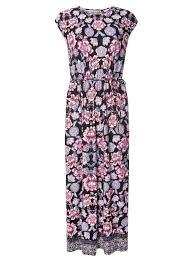 coloured dress multi coloured floral border maxi dress dorothy perkins