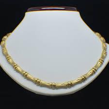 fashion necklace gold images San lazaro jewelry wide bamboo style gold necklace by san lazaro jpg