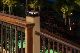 4x4 led deck and fence post cap light with 6x6 post adapter 10