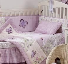 purple butterfly 4 piece crib bedding set nursery