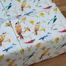 bird wrapping paper birds wrapping paper by kate slater notonthehighstreet