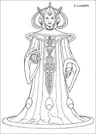 queen amidala coloring pages hellokids