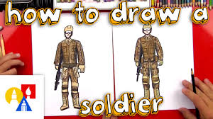 how to draw a soldier youtube
