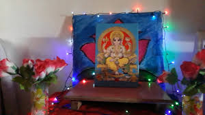 easy and simple ganpati decoration idea for home youtube