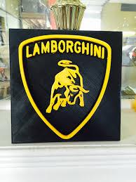 lamborghini logo lamborghini logo en 3 dimensions 3d printer kit montréal