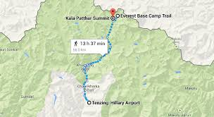 Google Map Route by The Ultimate Everest Base Camp Plan Halfway Anywhere