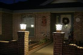Outdoor Pillar Lights Premium Classic Solar Pillar Light In Black Yardbright Landscape