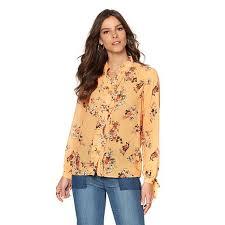 blouse button sheryl floral print button blouse 8403798 hsn