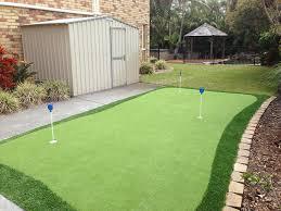 backyard putting green turf brisbane landscaping brisbane
