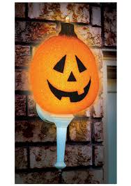 halloween yard decorations outdoor sparkling pumpkin porch light