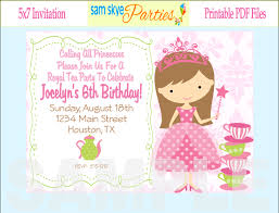 creative princess party invitation template 6 given luxurious