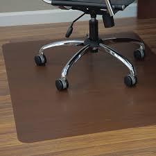 Hardwood Floor Chair Mat Amazon Com Es Robbins Wood Veneer Style Rectangle Chair Mat For