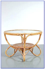white wicker side table white rattan coffee table thewkndedit com