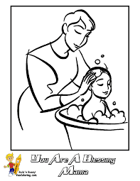 free lds clipart to color for primary children images mothers