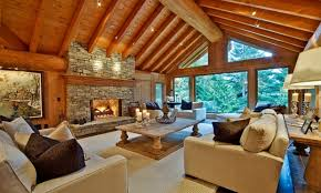 Modern Cabin Interior by Home Design Outside Room Ideas Log Cabin Interior With Regard To
