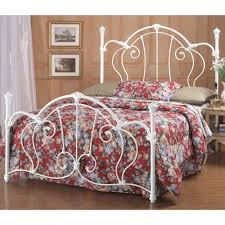 Iron Bed Set Cherie Iron Bed In Ivory Humble Abode