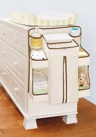 Changing Table Side Organizer White Holder Storage Bins Changing Table Closet Organizer