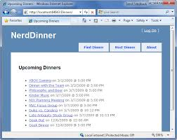 templates for asp net web pages nerddinner step 7 partials and master pages