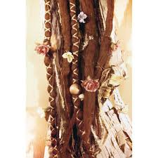 hippie hair wrap 10pc tie dye wool brown flower maiden dreads with x cross wr