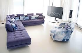 canapé en tissu design canapé tissu coloré capitonné