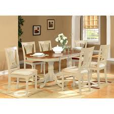 White Wooden Dining Table And Chairs Simple Dining Room Decoration Using Cherry Wood Pedestal Oval