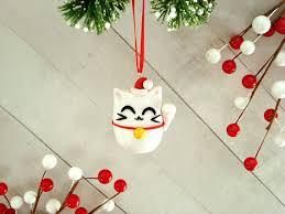 lucky cat ornament cat ornaments
