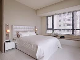 apartment bedroom black bed white quilt decoration decorating