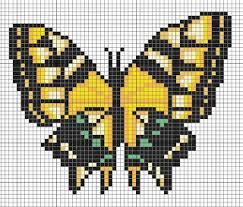 cross me not yellow butterfly diy hama