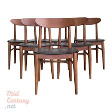 extendable teak dining table and 6 danish teak dining chairs u2022 mid
