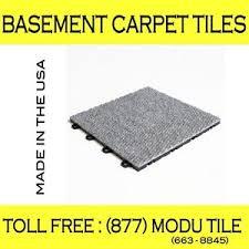 Carpet Tiles For Basement - interlocking carpet tiles for basement flooring gray made in