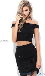 klshort black dresses two sherri hill beaded party dress