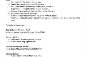 Special Education Teacher Resume Objective Secondary Teacher Resume Example Teacher Resumes Cover